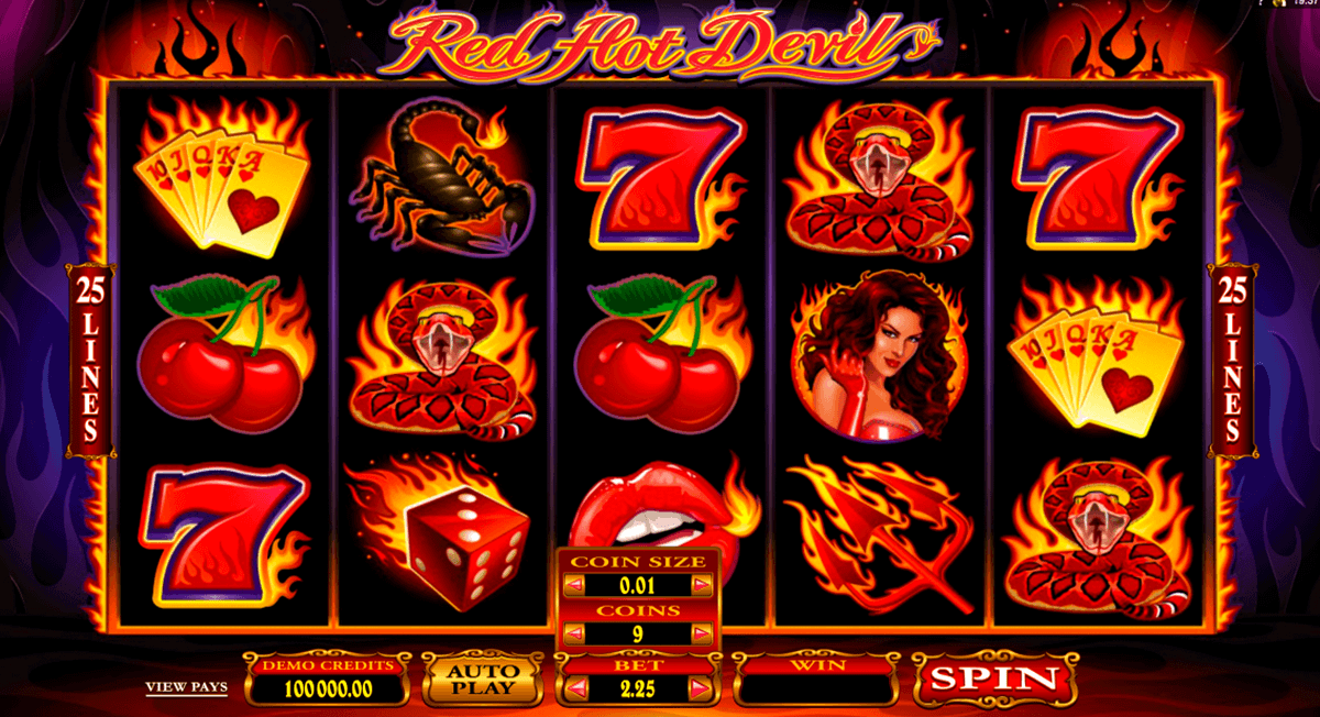 red hot devil microgaming kolikkopelit