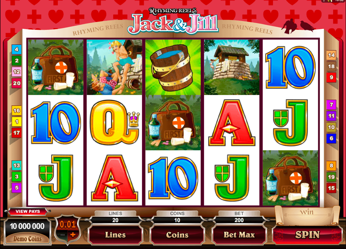 rhyming reels jack and jill microgaming kolikkopelit