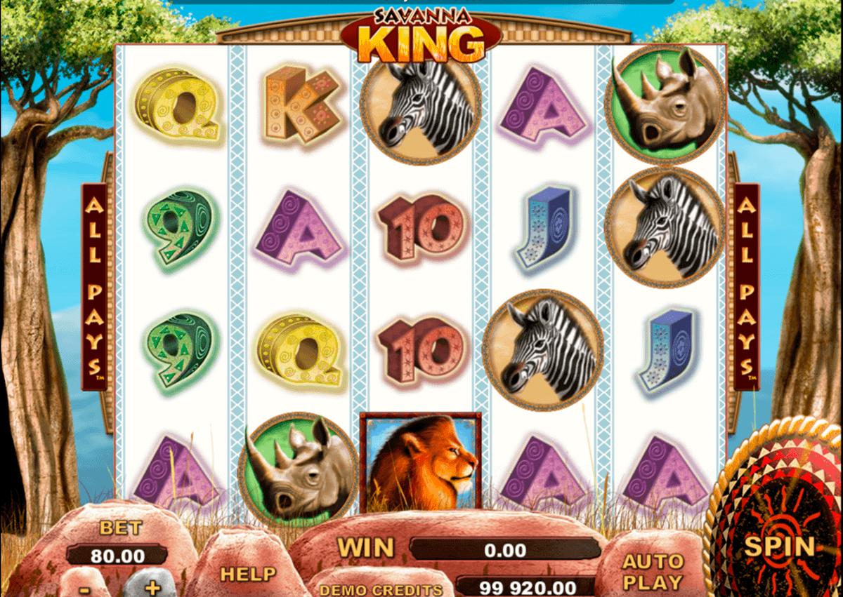 savanna king genesis kolikkopelit