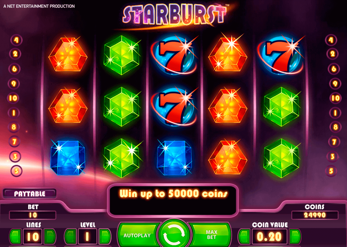 starburst netent kolikkopelit