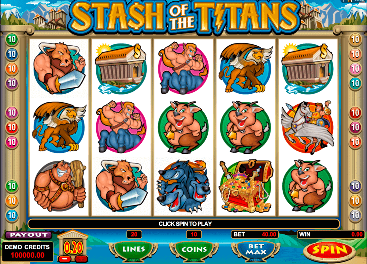 stash of the titans microgaming kolikkopelit