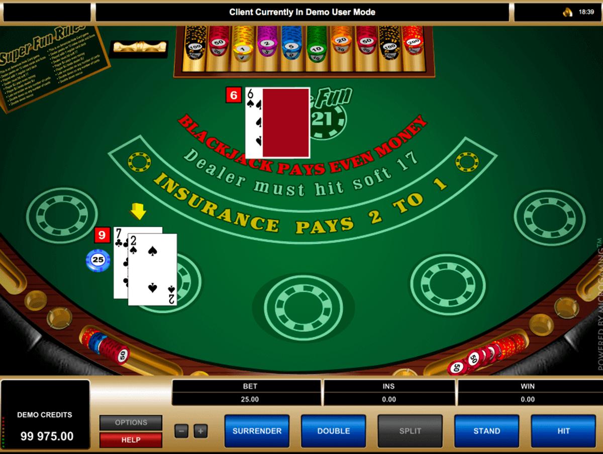 super fun  blackjack microgaming blackjack