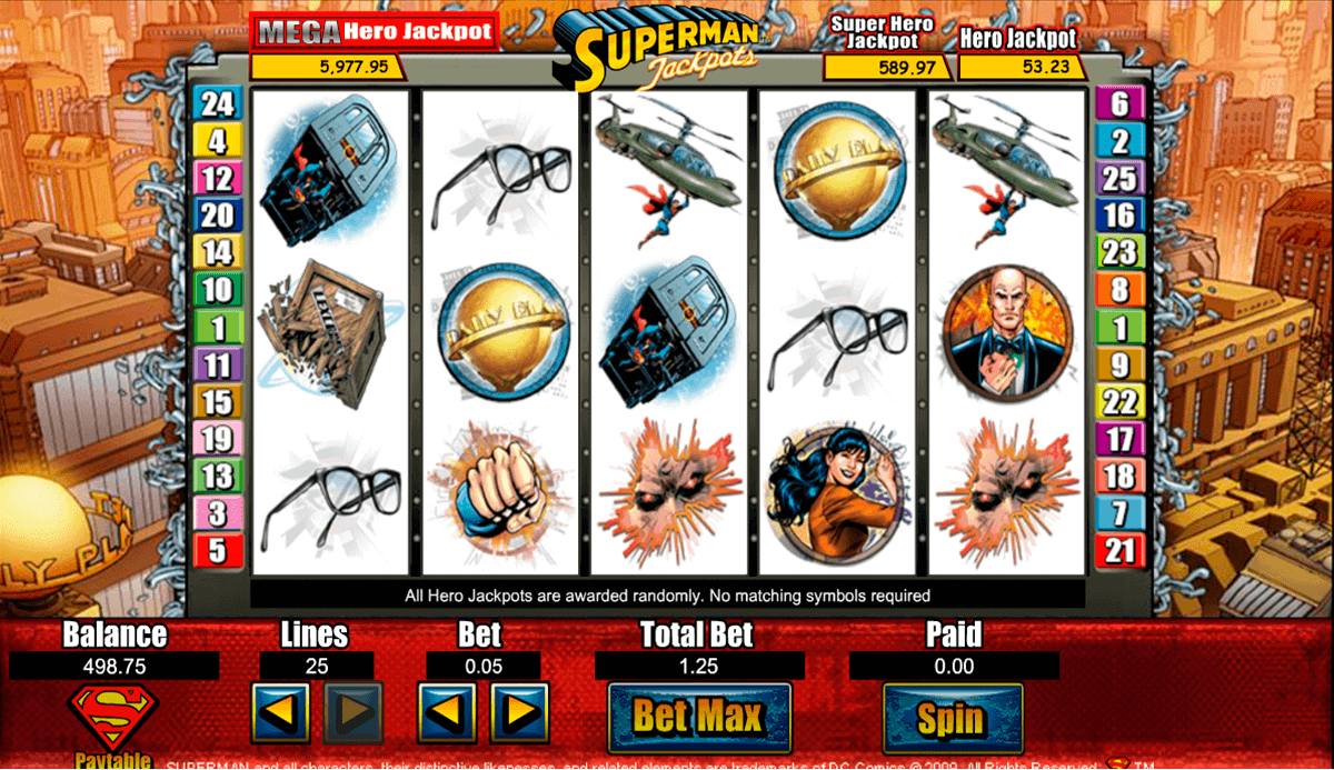 superman jackpots amaya kolikkopelit