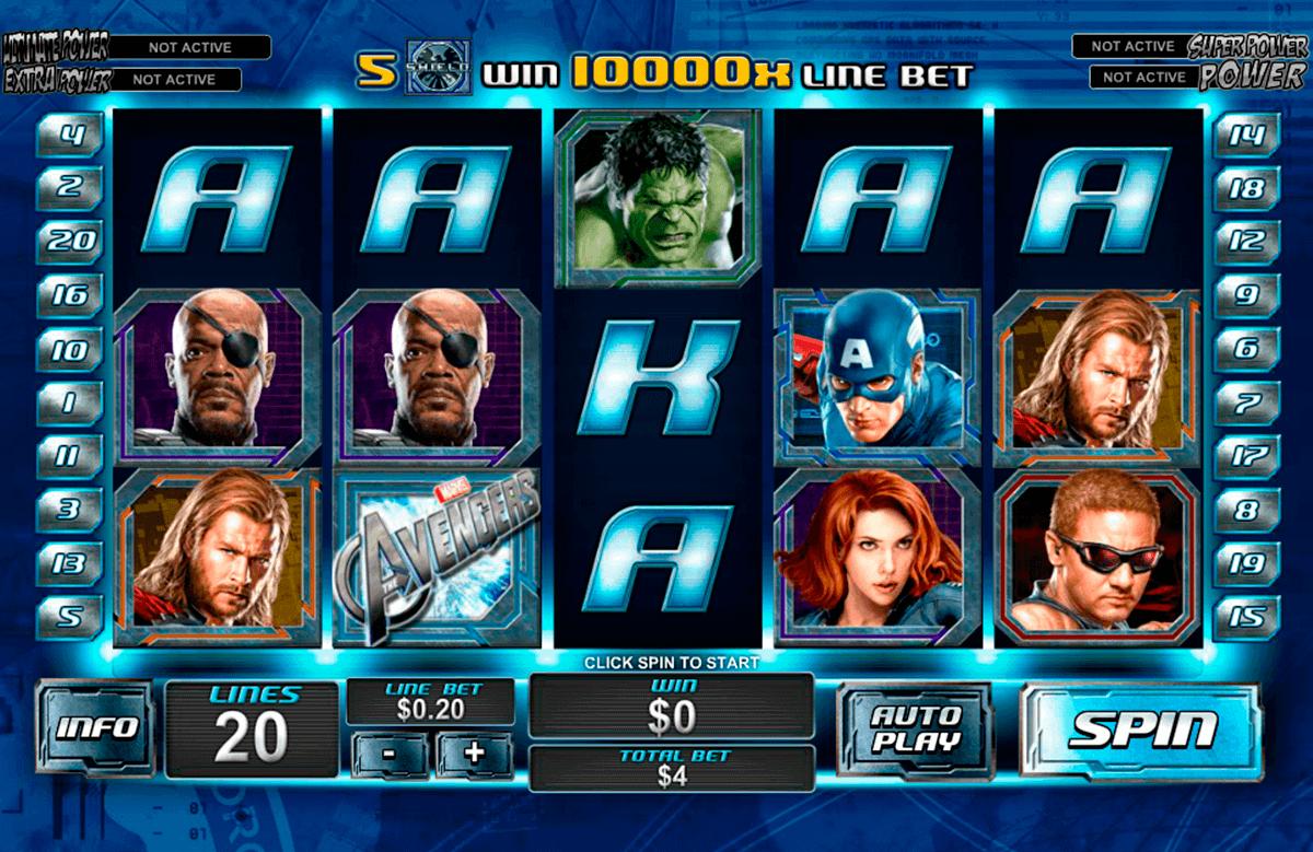 the avengers playtech kolikkopelit
