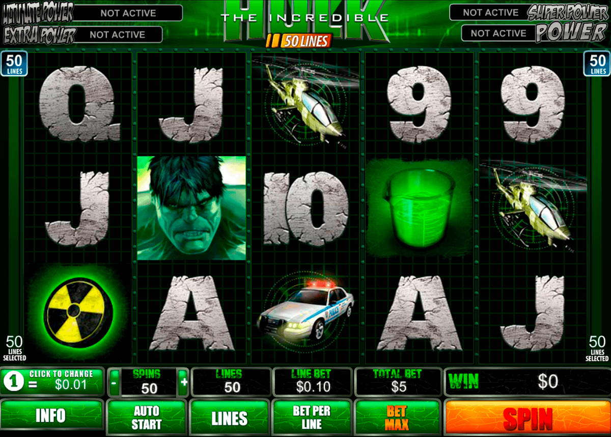the incredible hulk  lines playtech kolikkopelit