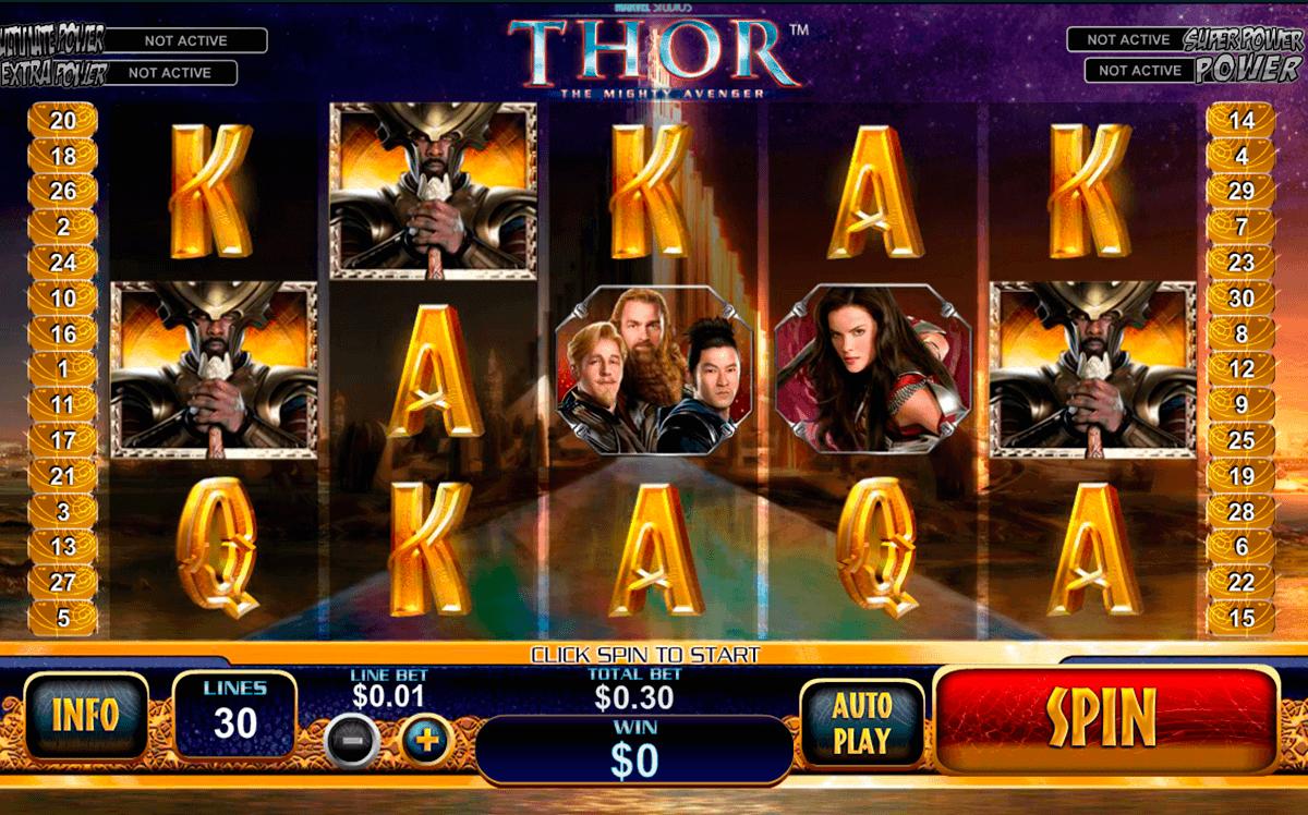 thor the mighty avenger playtech kolikkopelit