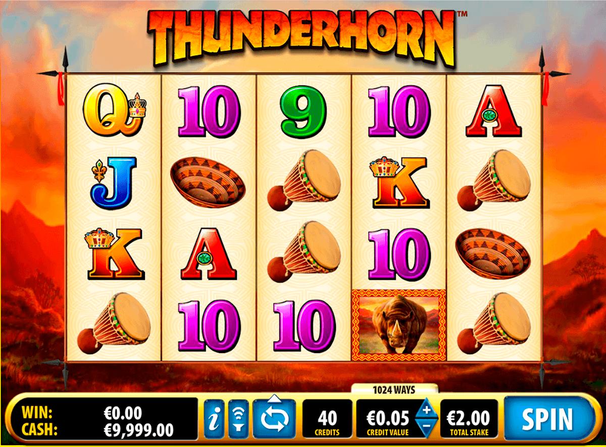 thunderhorn bally kolikkopelit