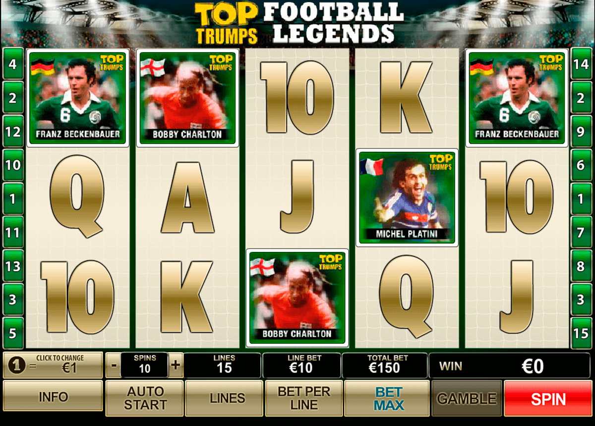 top trumps football legends playtech kolikkopelit