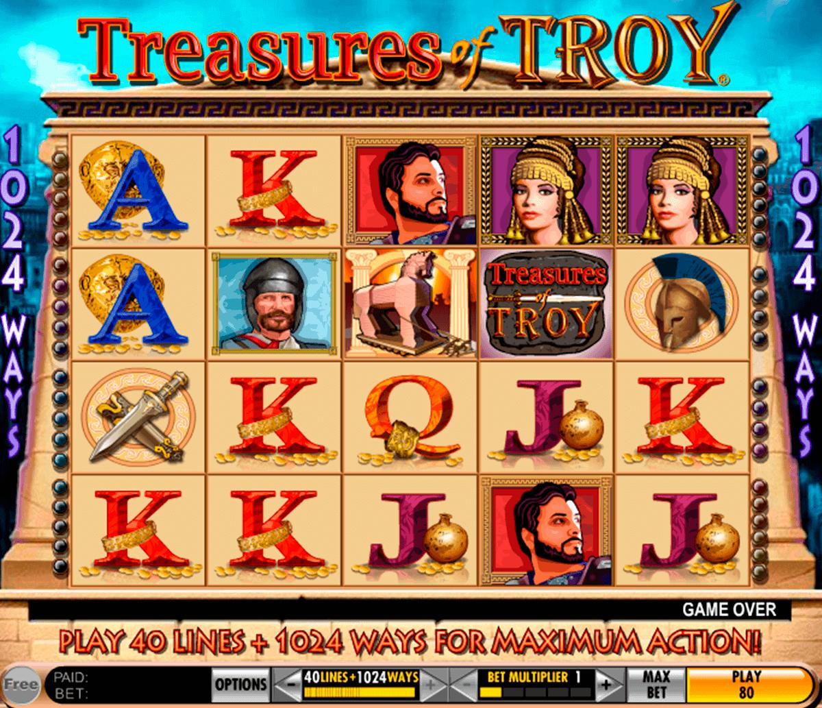 treasures of troy igt kolikkopelit
