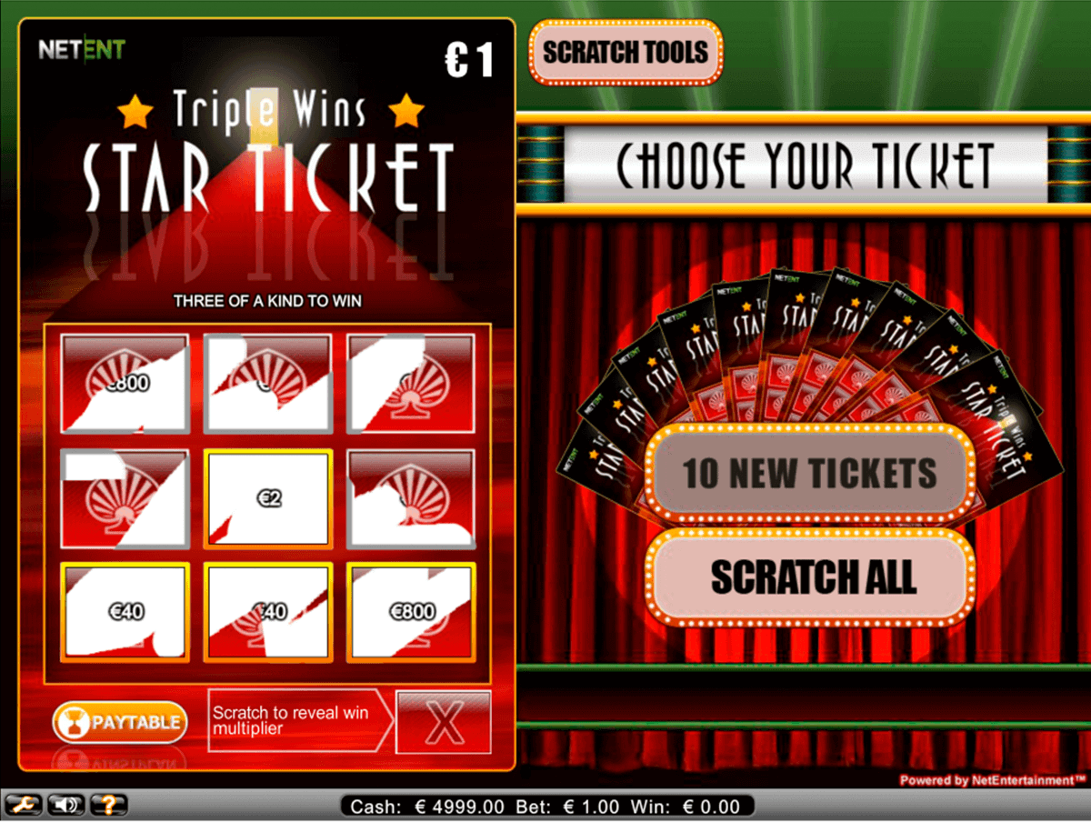 triple wins star ticket netent raaputusarvat