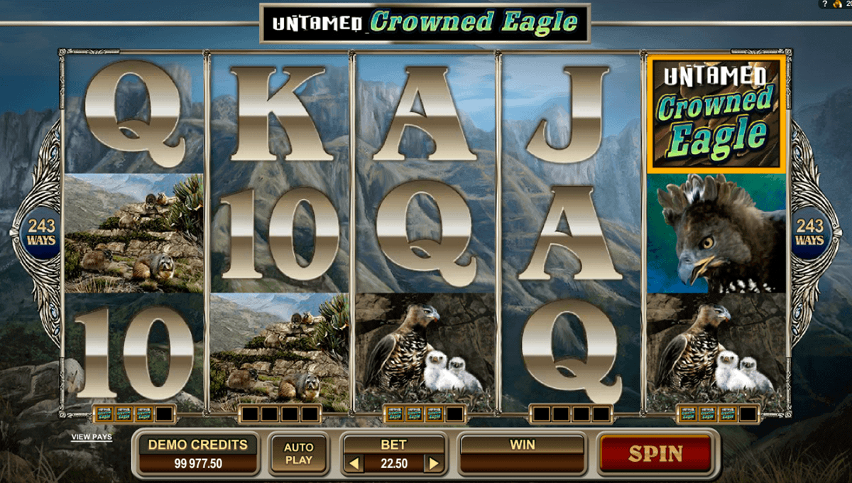 untamed crowned eagle microgaming kolikkopelit