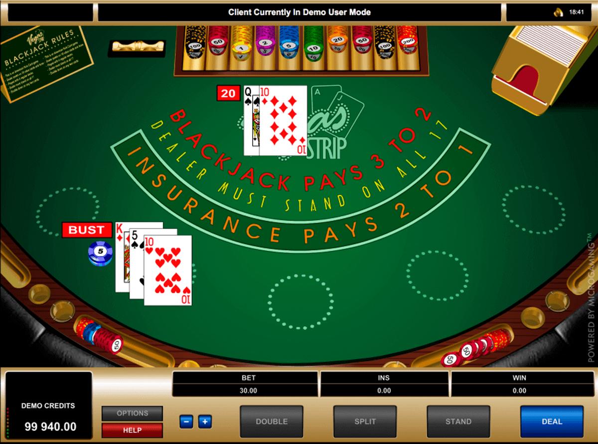 vegas strip blackjack microgaming blackjack