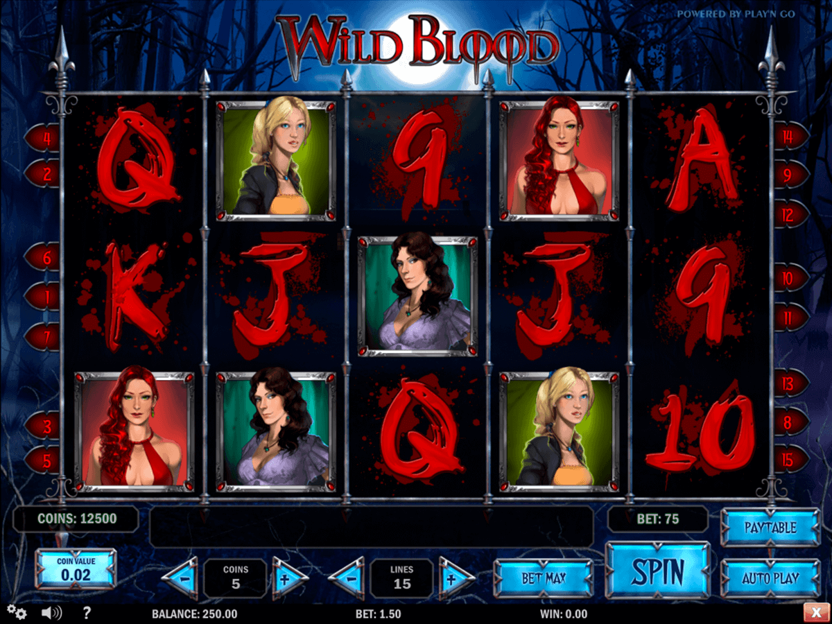 wild blood playn go kolikkopelit