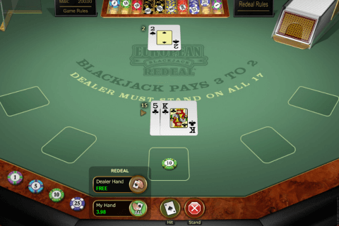european blackjack redeal microgaming
