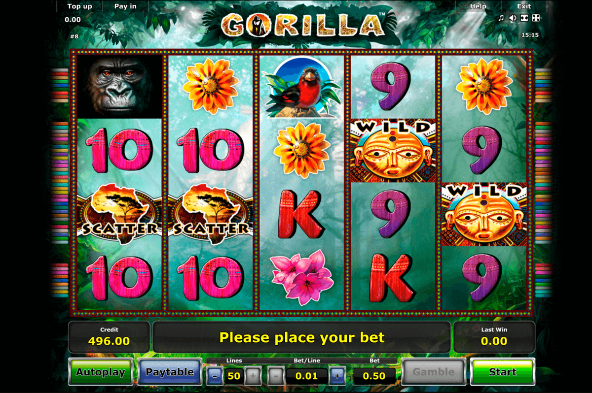 gorilla novomatic kolikkopeli