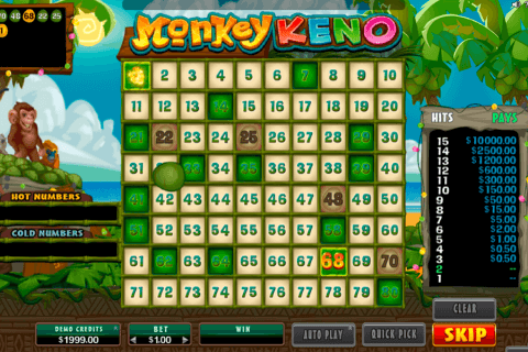 monkey keno microgaming
