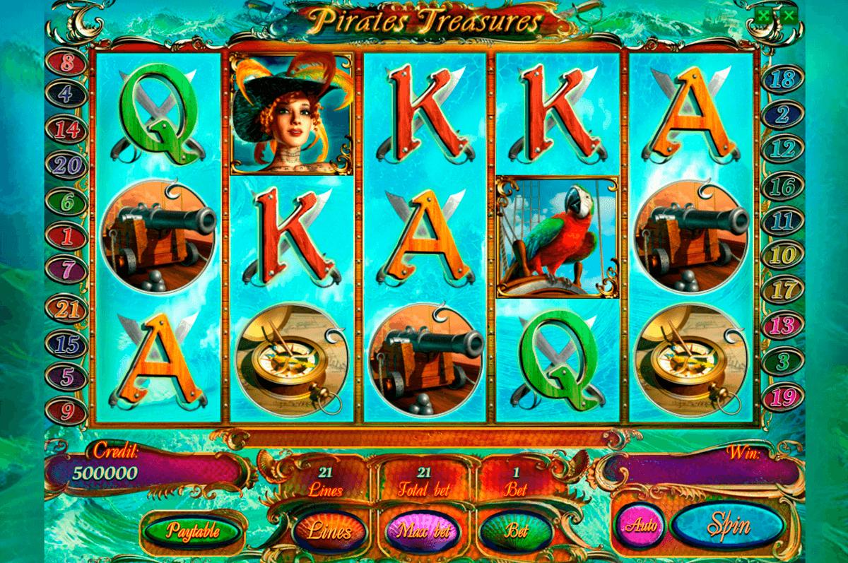 pirates treasures playson kolikkopeli