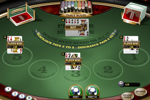 premier blackjack multihand gold microgaming