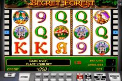 secret forest novomatic kolikkopeli